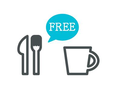 イベントでの就職説明会では飲み物や食事は無料です!